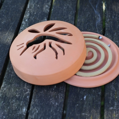 Citronella-spiralen in terracotta